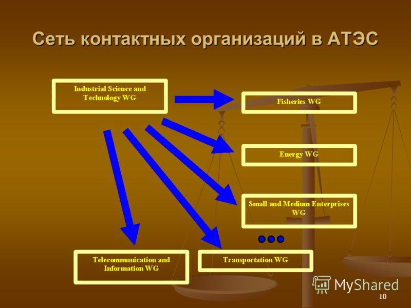 10 Сеть контактных организаций в АТЭС