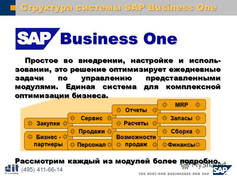 SAP AG 2003 Простое во внедрении, настройке и исполь- зовании, это решение оптимизирует ежедневные задачи по управлению представленными модулями. Единая система для комплексной оптимизации бизнеса. Простое во внедрении, настройке и исполь- зовании, э