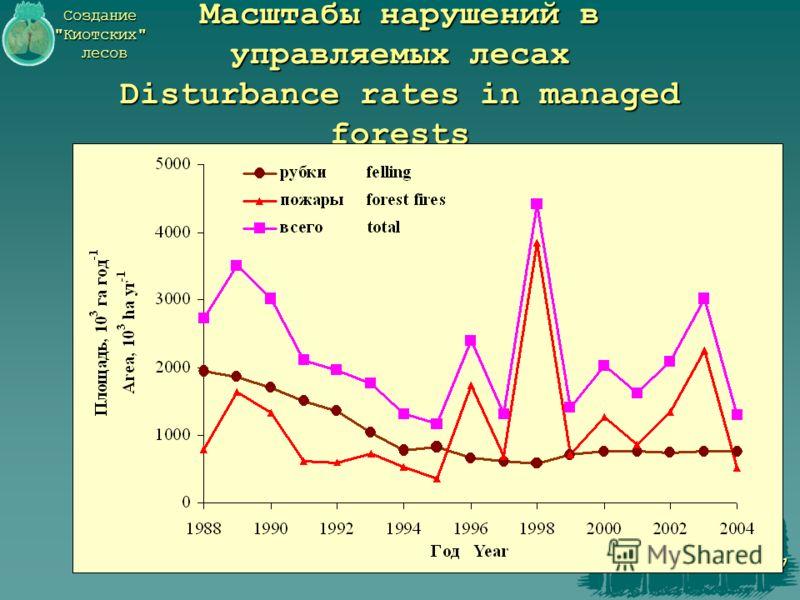Создание Киотских лесов 7 Масштабы нарушений в управляемых лесах Disturbance rates in managed forests