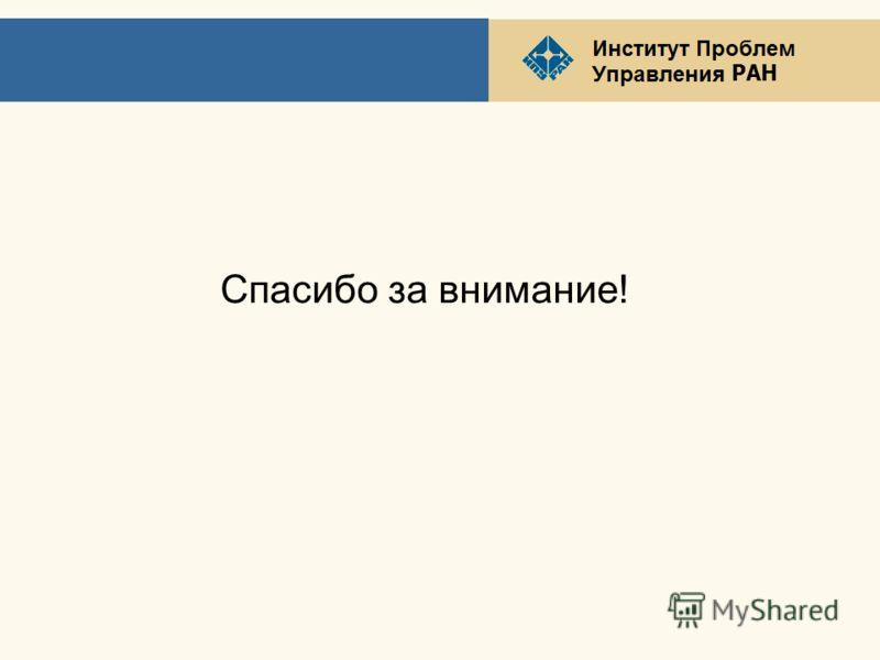 РАН Спасибо за внимание!