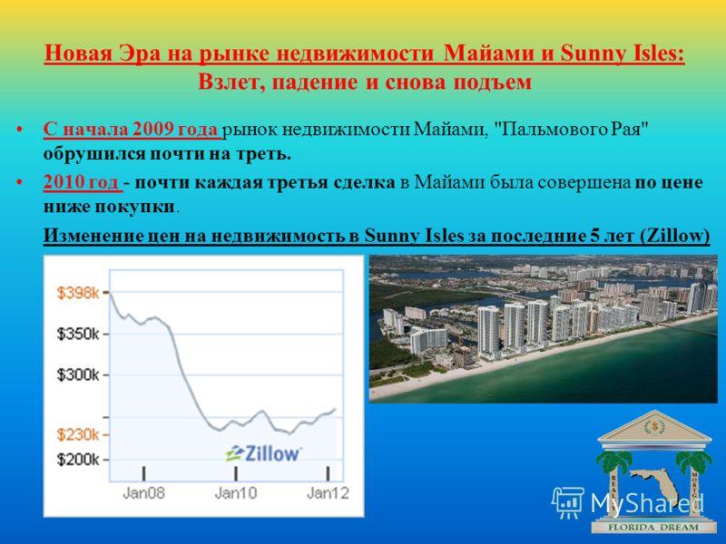 Новая Эра на рынке недвижимости Майами и Sunny Isles: Взлет, падение и снова подъем С начала 2009 года рынок недвижимости Майами,