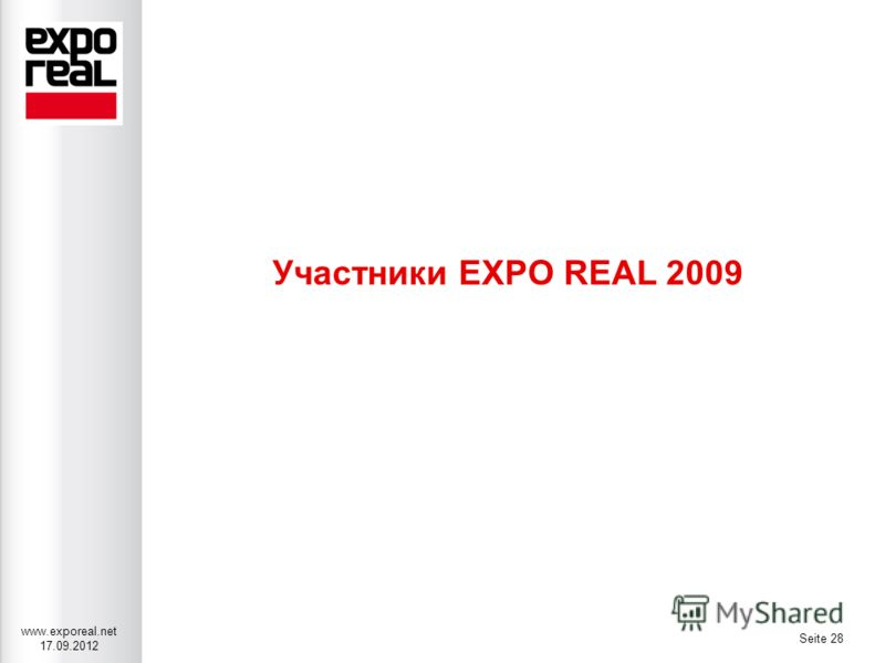 www.exporeal.net 17.09.2012 Seite 28 Участники EXPO REAL 2009