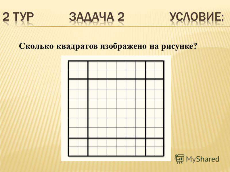 Сколько квадратов изображено на рисунке?