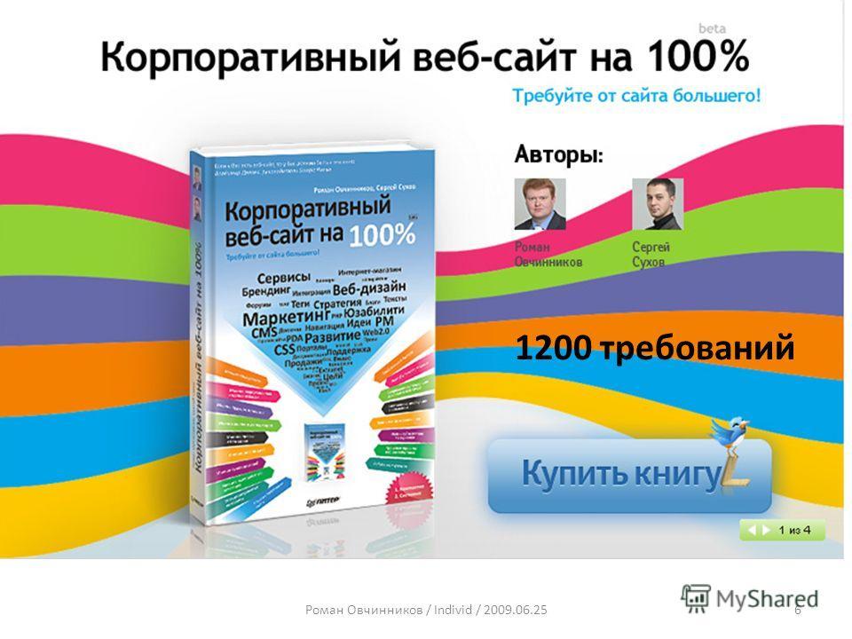 Роман Овчинников / Individ / 2009.06.256 1200 требований