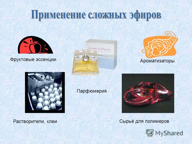 Фруктовые эссенции Ароматизаторы Растворители, клеи Сырьё для полимеров Парфюмерия