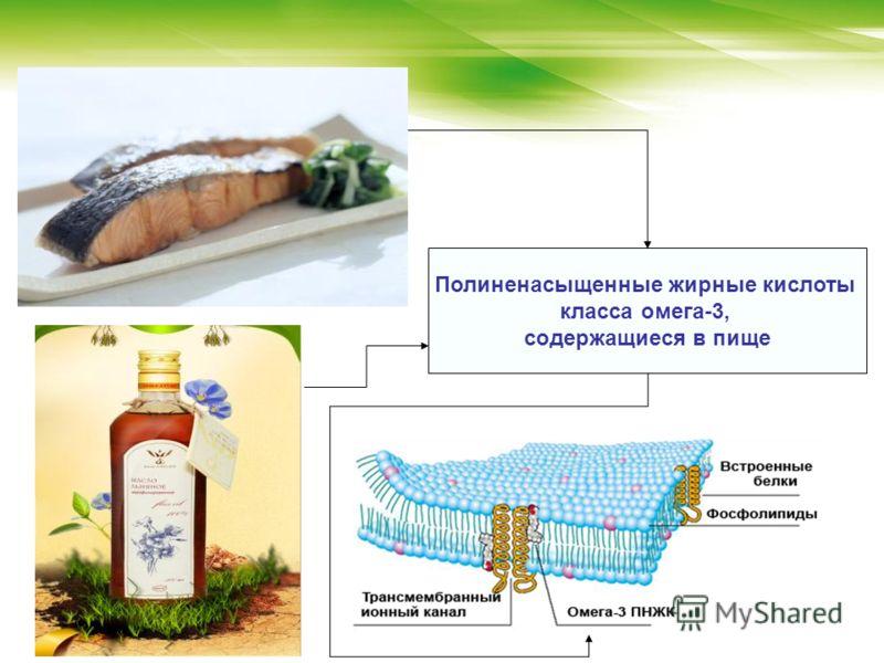 Полиненасыщенные жирные кислоты класса омега-3, содержащиеся в пище