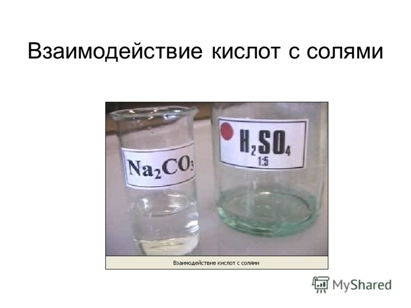 Взаимодействие кислот с солями