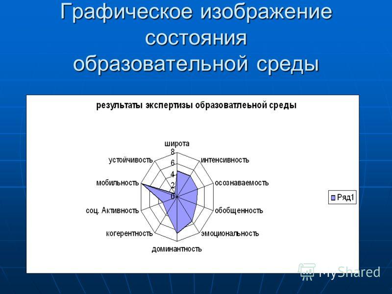 Графическое изображение состояния образовательной среды