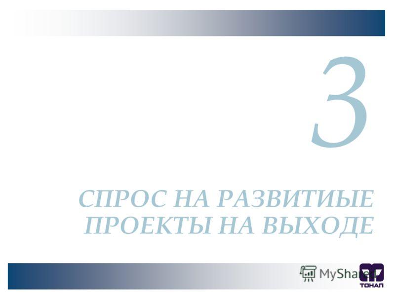 3 СПРОС НА РАЗВИТИЫЕ ПРОЕКТЫ НА ВЫХОДЕ