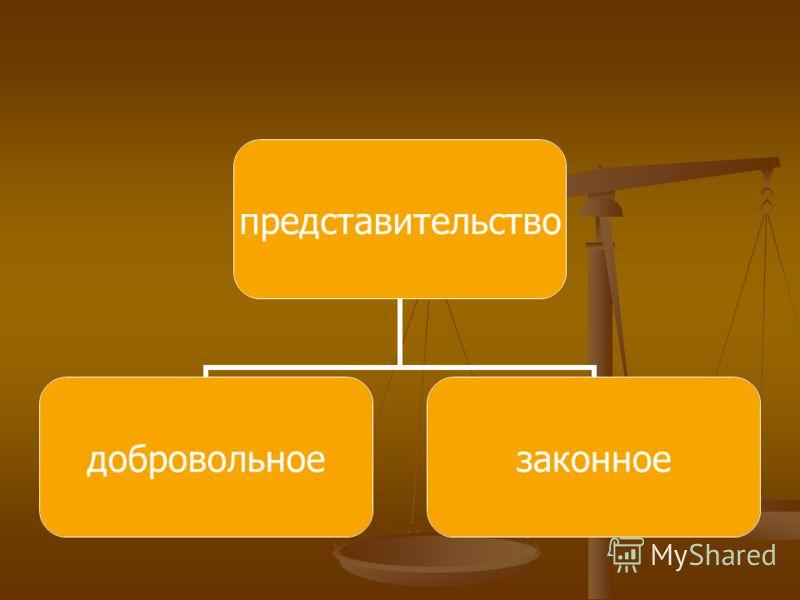 представительство добровольноезаконное