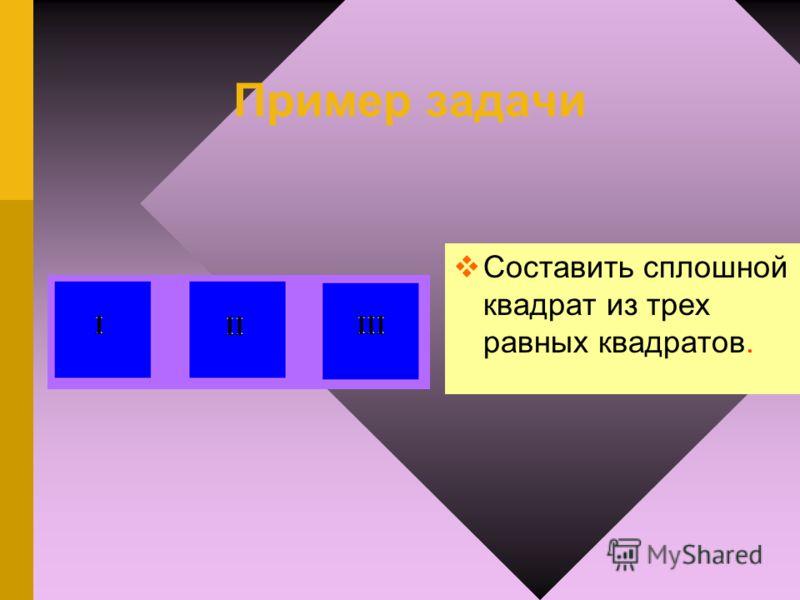 Задачи на разрезыванияквадрата Если вы хоть немного увлечен математикой, то ему, несомненно, захочется не только складывать многоугольники из готовых частей квадрата, но и самому научиться разрезать квадрат на части, необходимые для составления той и