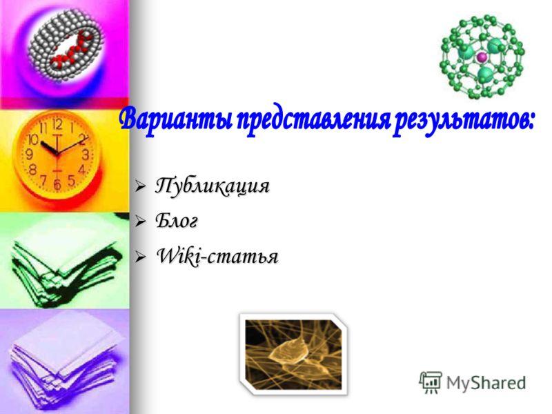 Публикация Публикация Блог Блог Wiki-статья Wiki-статья