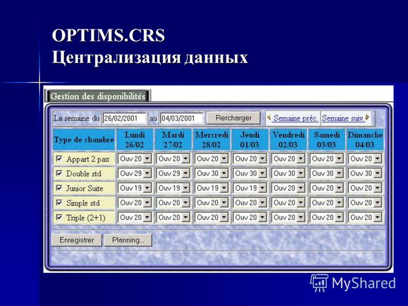 OPTIMS.CRS Централизация данных