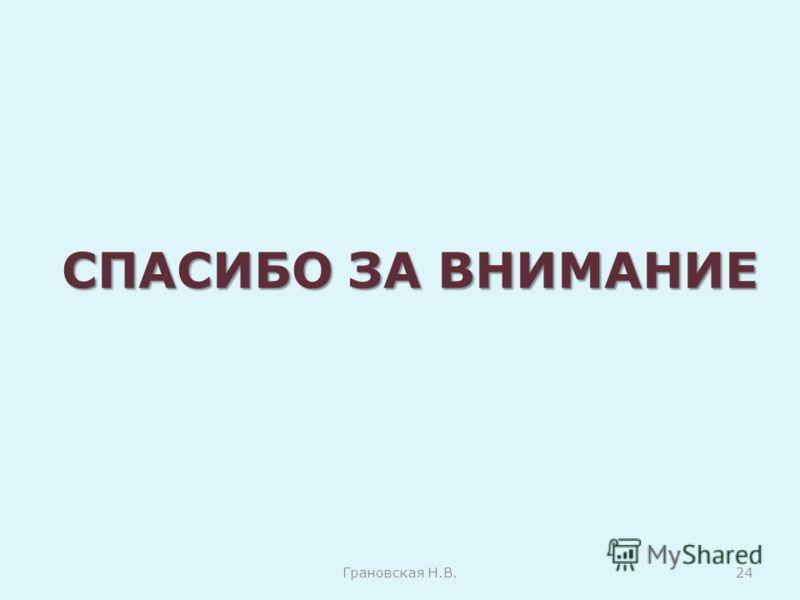 СПАСИБО ЗА ВНИМАНИЕ Грановская Н.В.24