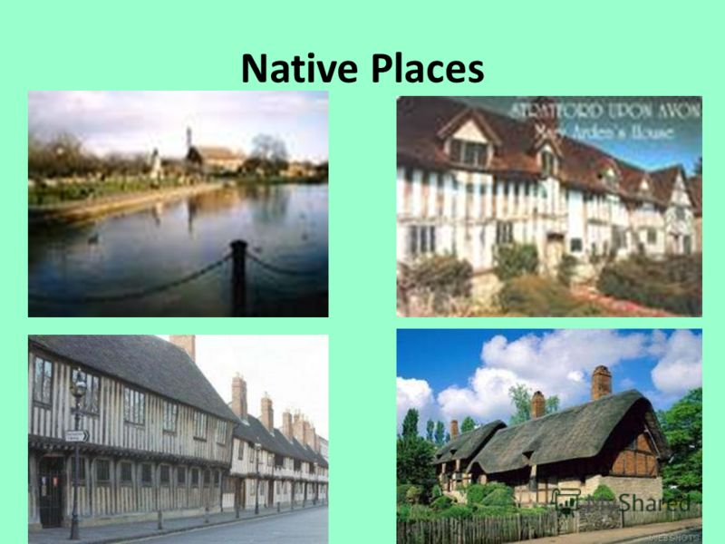 Native Places Stratford-on-Avon