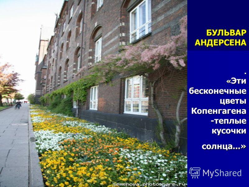 БУЛЬВАР АНДЕРСЕНА. « Эти бесконечные цветы Копенгагена -теплые кусочки солнца...»