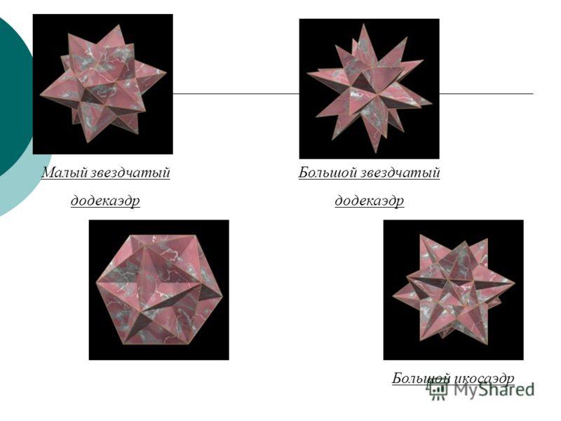 Тела Кеплера - Пуансо Среди невыпуклых однородных многогранников существуют аналоги платоновых тел - четыре правильных невыпуклых однородных многогранника или тела Кеплера - Пуансо.невыпуклых однородных многогранниковплатоновых тел Как следует из их
