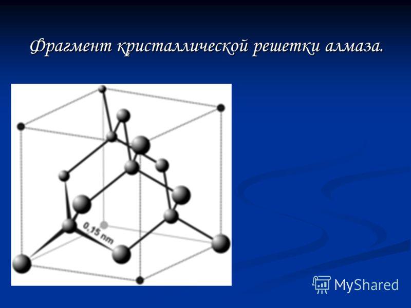 Фрагмент кристаллической решетки алмаза.