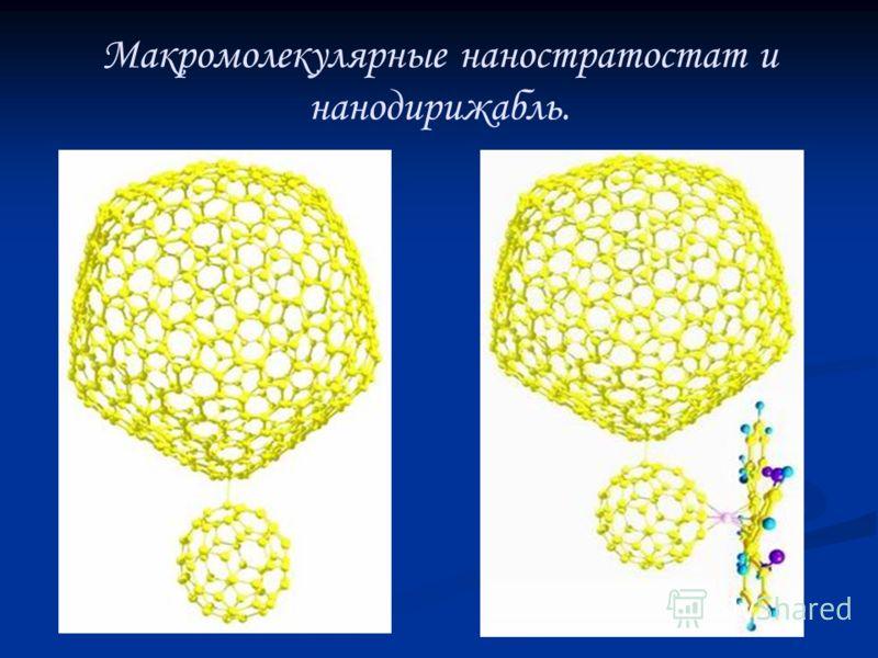 Макромолекулярные наностратостат и нанодирижабль.
