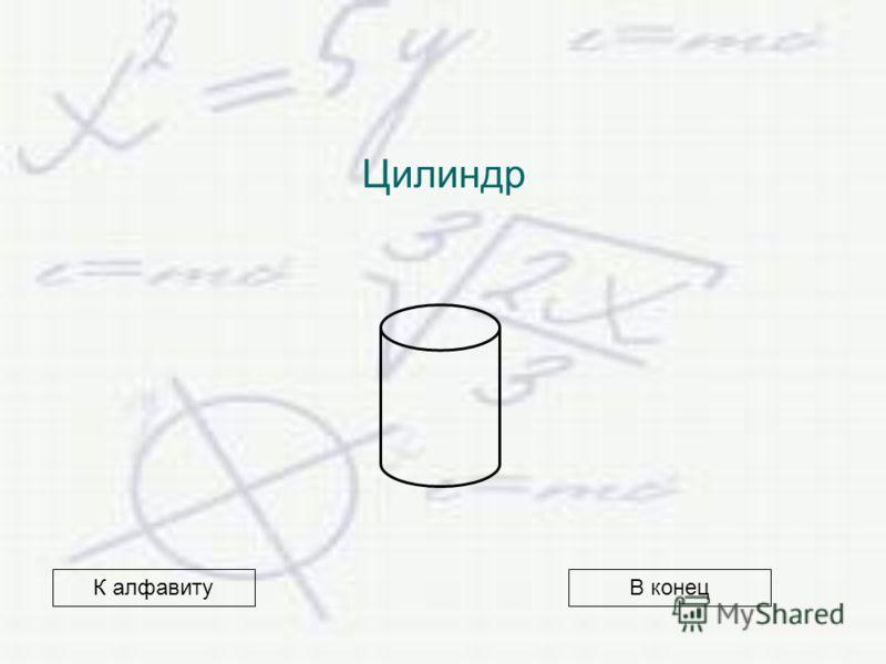 Цилиндр В конецК алфавиту