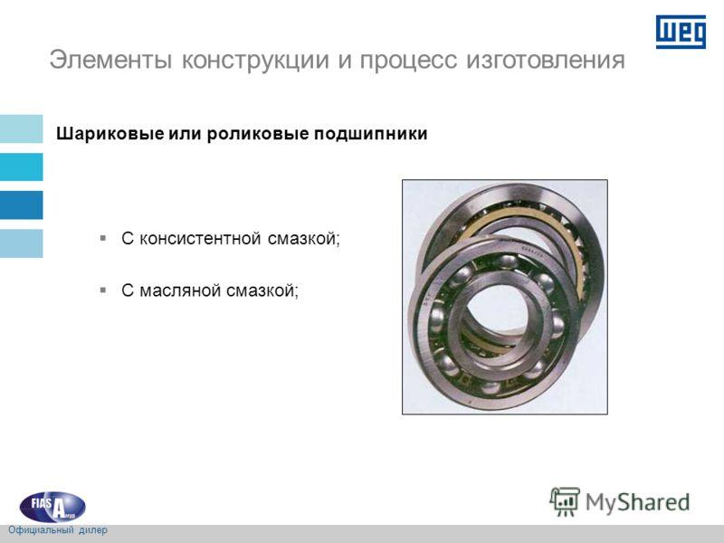 Шариковые или роликовые подшипники С консистентной смазкой; С масляной смазкой; Элементы конструкции и процесс изготовления Официальный дилер