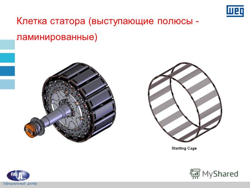 Клетка статора (выступающие полюсы - ламинированные) Официальный дилер