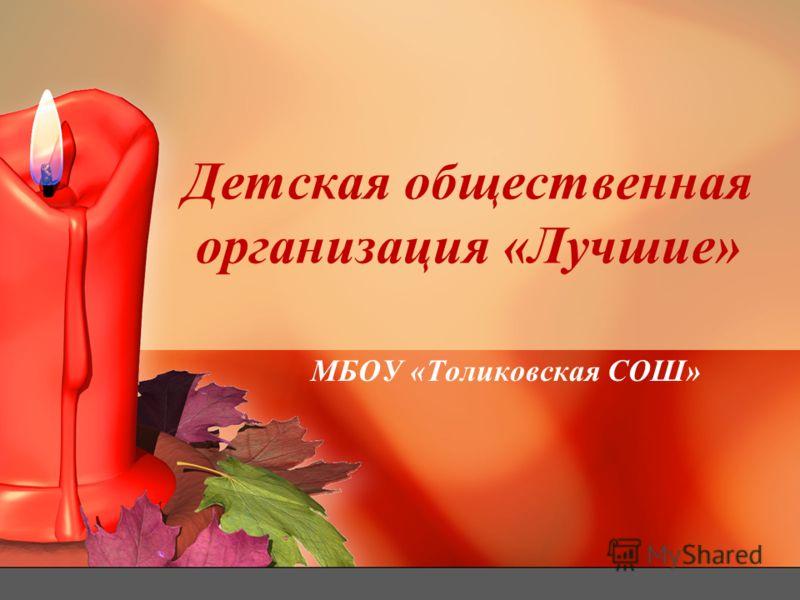 Детская общественная организация «Лучшие» МБОУ «Толиковская СОШ»
