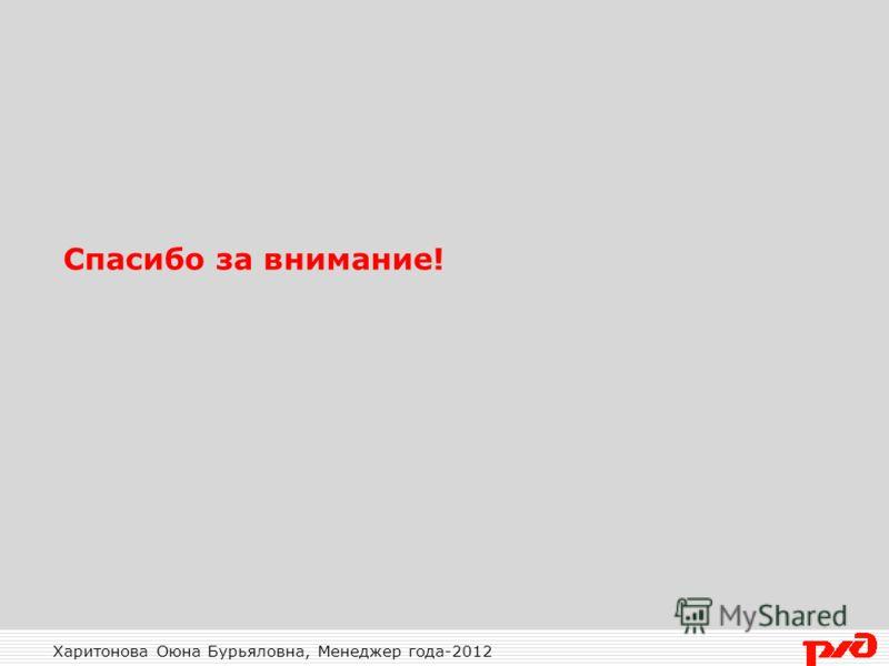 Харитонова Оюна Бурьяловна, Менеджер года-2012 Спасибо за внимание!