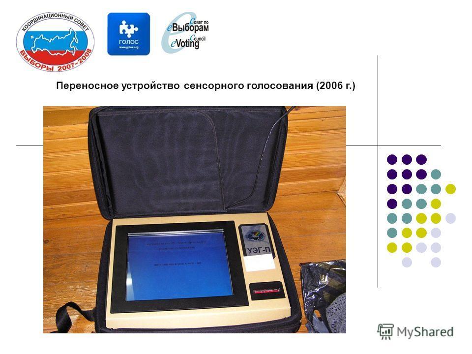 Переносное устройство сенсорного голосования (2006 г.)