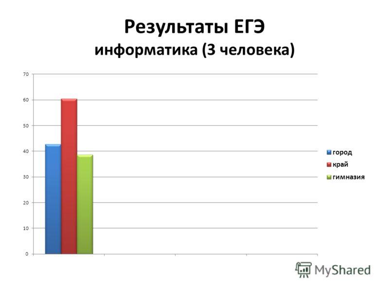 Результаты ЕГЭ информатика (3 человека)