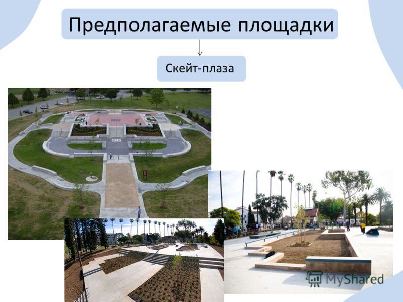 Предполагаемые площадки Скейт-плаза