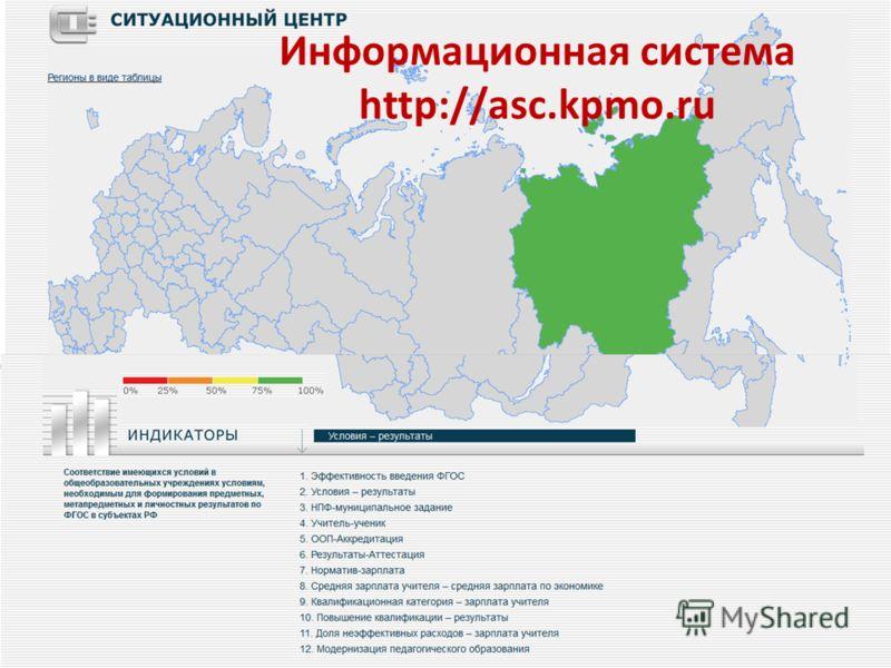 Информационная система http://asc.kpmo.ru