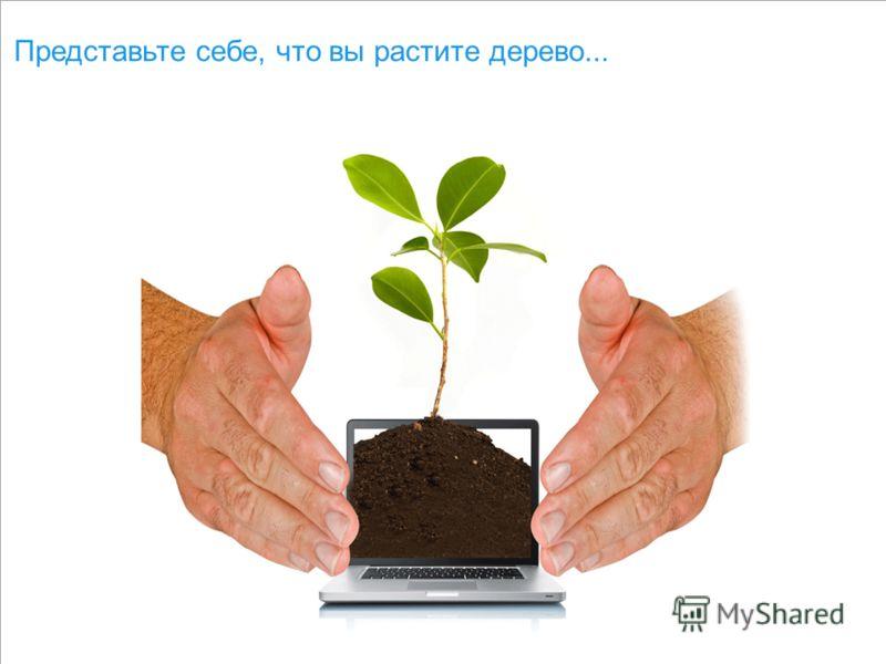 Представьте себе, что вы растите дерево...
