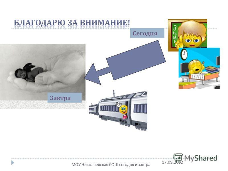 Сегодня Завтра МОУ Николаевская СОШ сегодня и завтра 17.09.2012