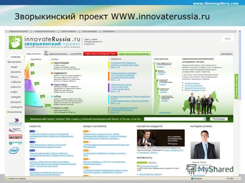 www.themegallery.com Company Logo Зворыкинский проект WWW.innovaterussia.ru