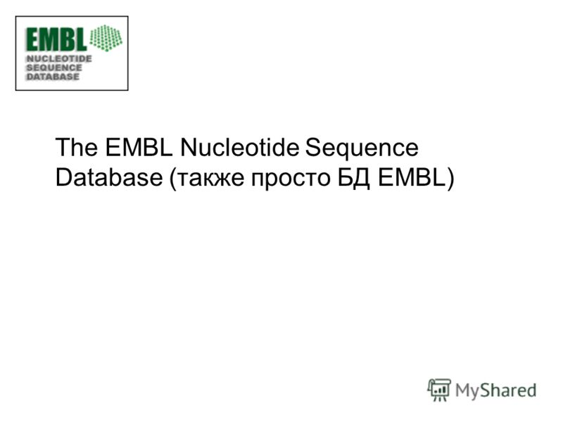 The EMBL Nucleotide Sequence Database (также просто БД EMBL)