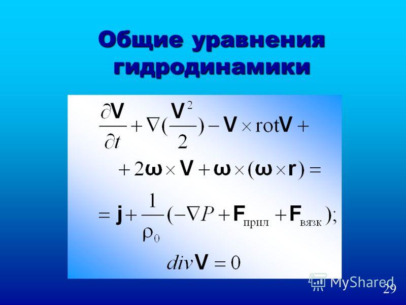 Общие уравнения гидродинамики 29