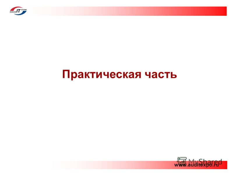 Практическая часть www.auditexpo.ru