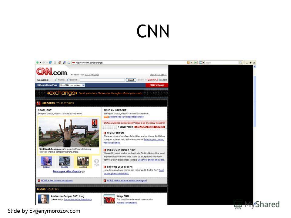 CNN Slide by Evgenymorozov.com