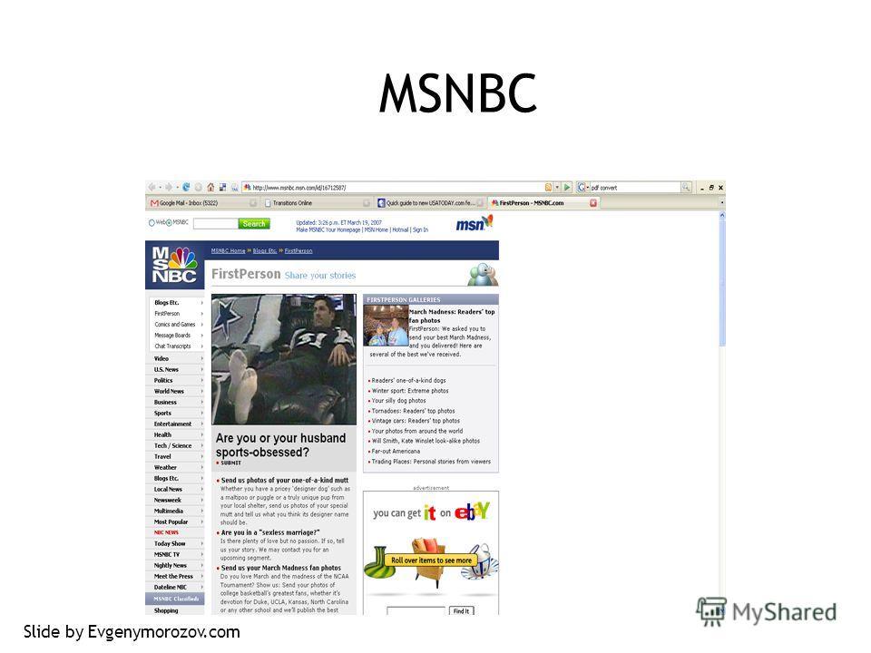 MSNBC Slide by Evgenymorozov.com