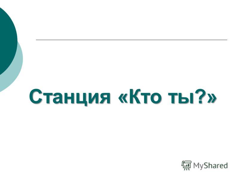Станция «Кто ты?»