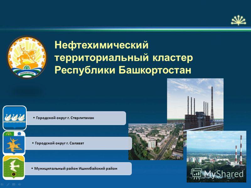 Нефтехимический территориальный кластер Республики Башкортостан Городской округ г. Стерлитамак Городской округ г. Салават Муниципальный район Ишимбайский район