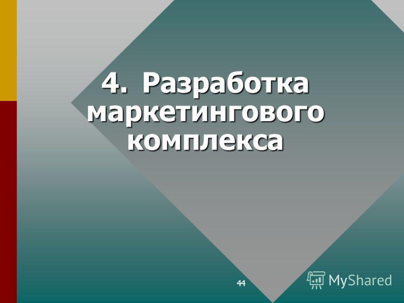 44 4.Разработка маркетингового комплекса