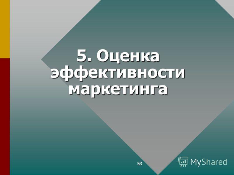 53 5. Оценка эффективности маркетинга