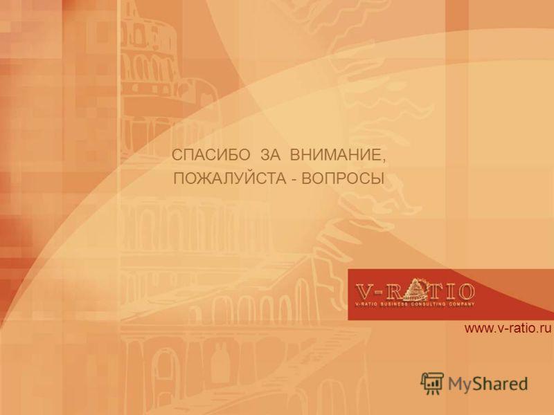 www.v-ratio.ru СПАСИБО ЗА ВНИМАНИЕ, ПОЖАЛУЙСТА - ВОПРОСЫ