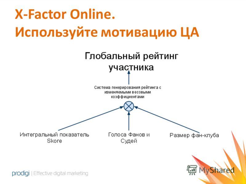 X-Factor Online. Используйте мотивацию ЦА