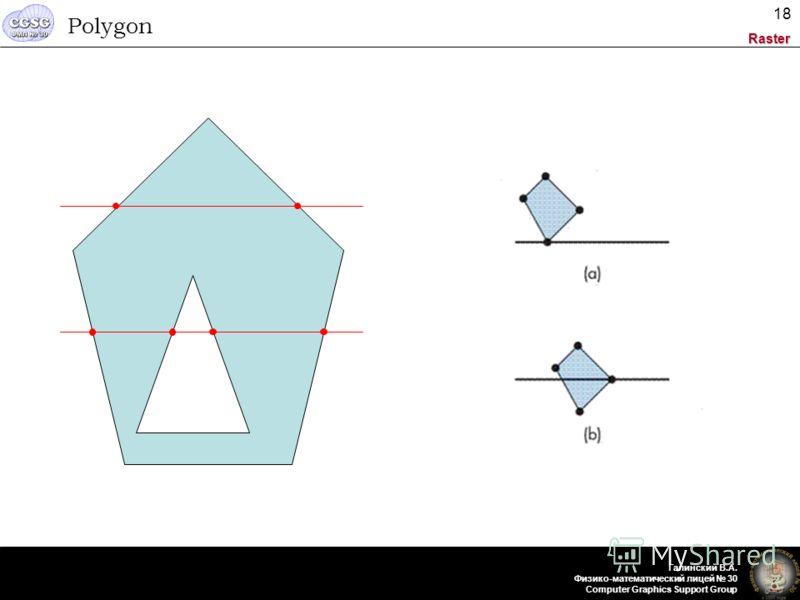 Raster Галинский В.А. Физико-математический лицей 30 Computer Graphics Support Group 18 Polygon