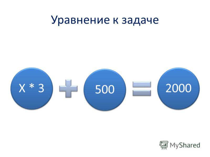 Уравнение к задаче Х * 35002000