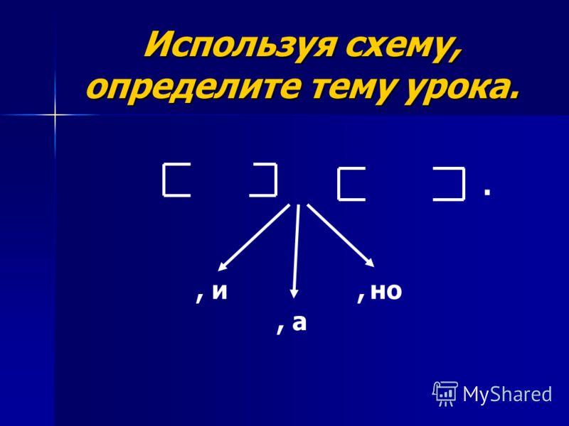 Используя схему, определите тему урока., и, а, но.