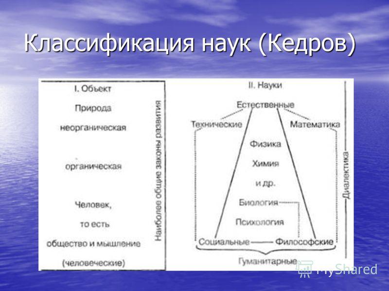 Классификация наук (Кедров)